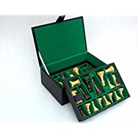 Chess Set Storage Box with Double Tray Fixed Slots for 4 - 4.25 Pieces by Chessbazaar [並行輸入品]