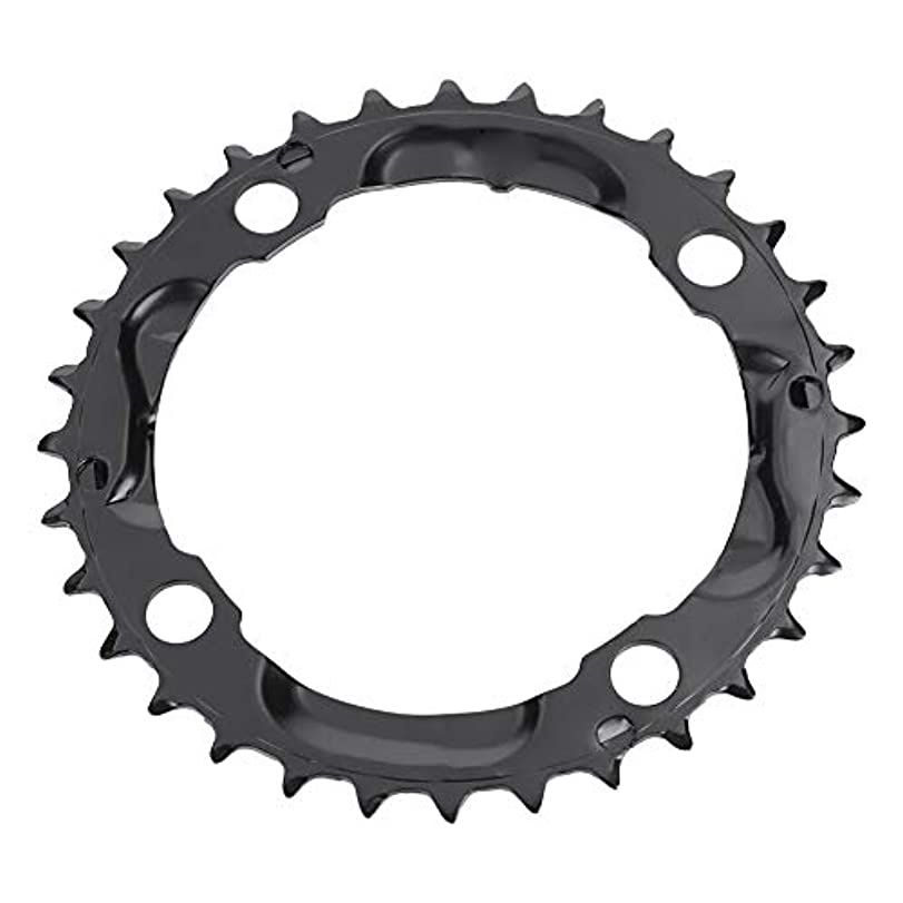 アルファベット順決済傾斜マウンテンバイクチェーンリング、32歯高強度スチールラウンドチェーンリング、自転車用ブラックシングルチェーンリングマウンテンバイク自転車ツール