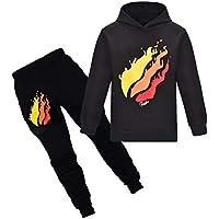 Thombase Prestonplayz Youtuber Boys Girls Hoodie + Pant Set Pullover Sweatshirts Hooded Tracksuit Preston Playz Sportsuits