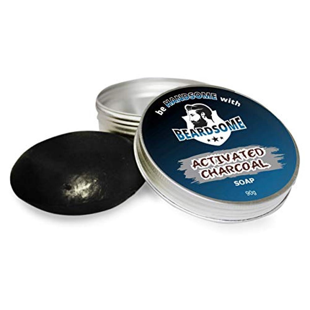 もっと未接続蒸BEARDSOME Activated Charcoal Soap For Men 90g
