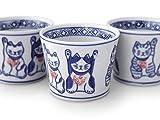 招き猫 そば猪口 【金運・財運・開運招福の縁起物、お祝いやおもてなしの席に最適!湯飲みや小鉢にも使える】