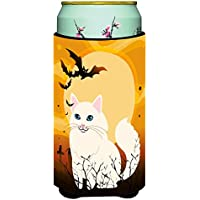 Carolines Treasures BB4438TBC Halloween Turkish Angora Cat Tall Boy Beverage Insulator Hugger