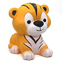 Trasfit 4.7' Jumbo Slow Rising Squishies Tiger - Large Kawaii Squishy Charms Toys Stress Relief Cute Toys Home D?cor (Yellow) 【You&Me】 [並行輸入品]