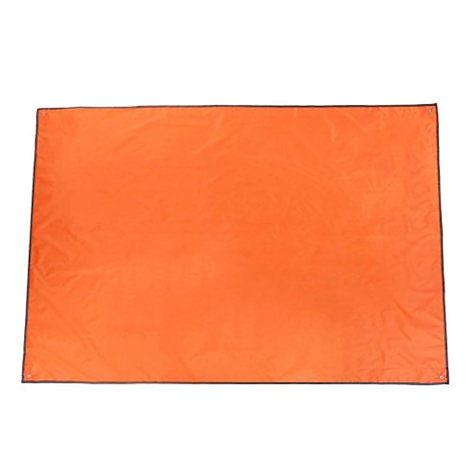 外交問題に向けて出発是正Beito 軽量 折りたたみ レジャーシート 防水仕様 1.45*2 オレンジ色