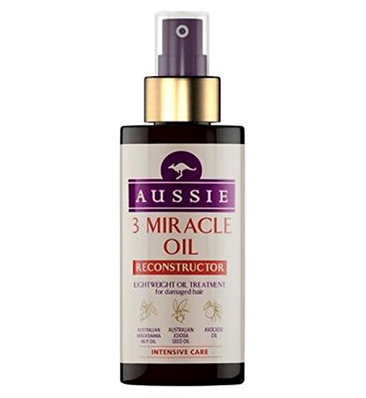 状況コレクション植木Aussie 3 Miracle Oil Reconstructor for Damaged Hair 100ml - 傷んだ髪の100ミリリットルのためのオージー3奇跡のオイル再構成 (Aussie) [並行輸入品]