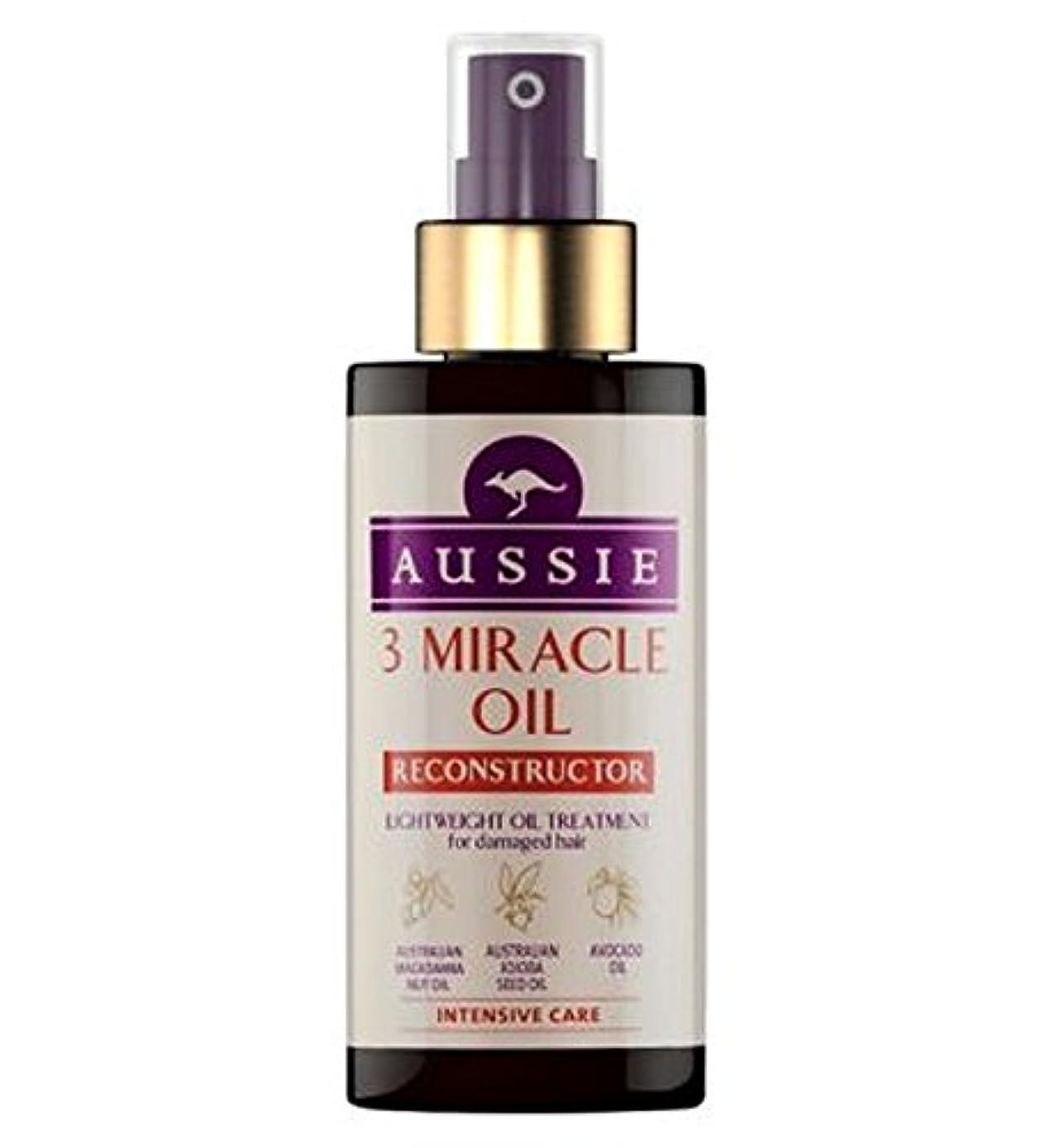 スカープ飾り羽マイルAussie 3 Miracle Oil Reconstructor for Damaged Hair 100ml - 傷んだ髪の100ミリリットルのためのオージー3奇跡のオイル再構成 (Aussie) [並行輸入品]
