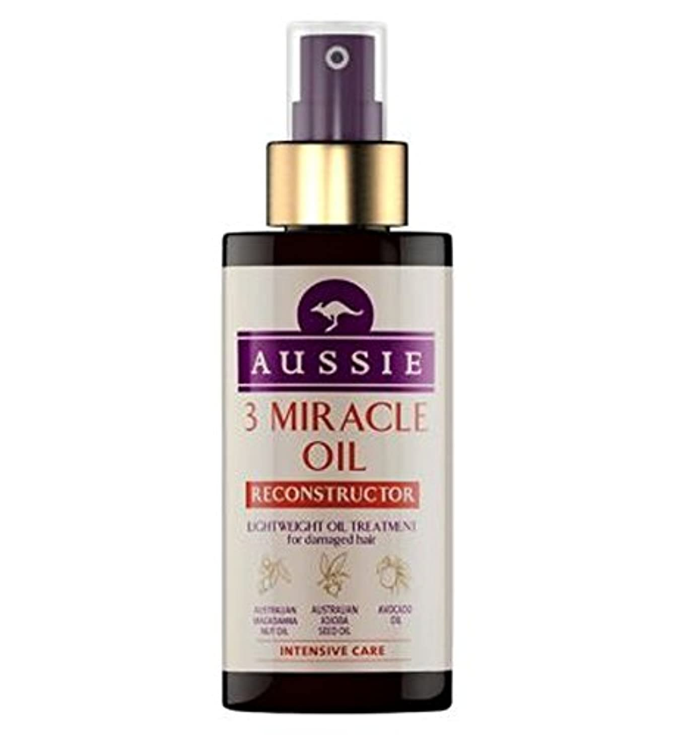 賠償つば大邸宅Aussie 3 Miracle Oil Reconstructor for Damaged Hair 100ml - 傷んだ髪の100ミリリットルのためのオージー3奇跡のオイル再構成 (Aussie) [並行輸入品]