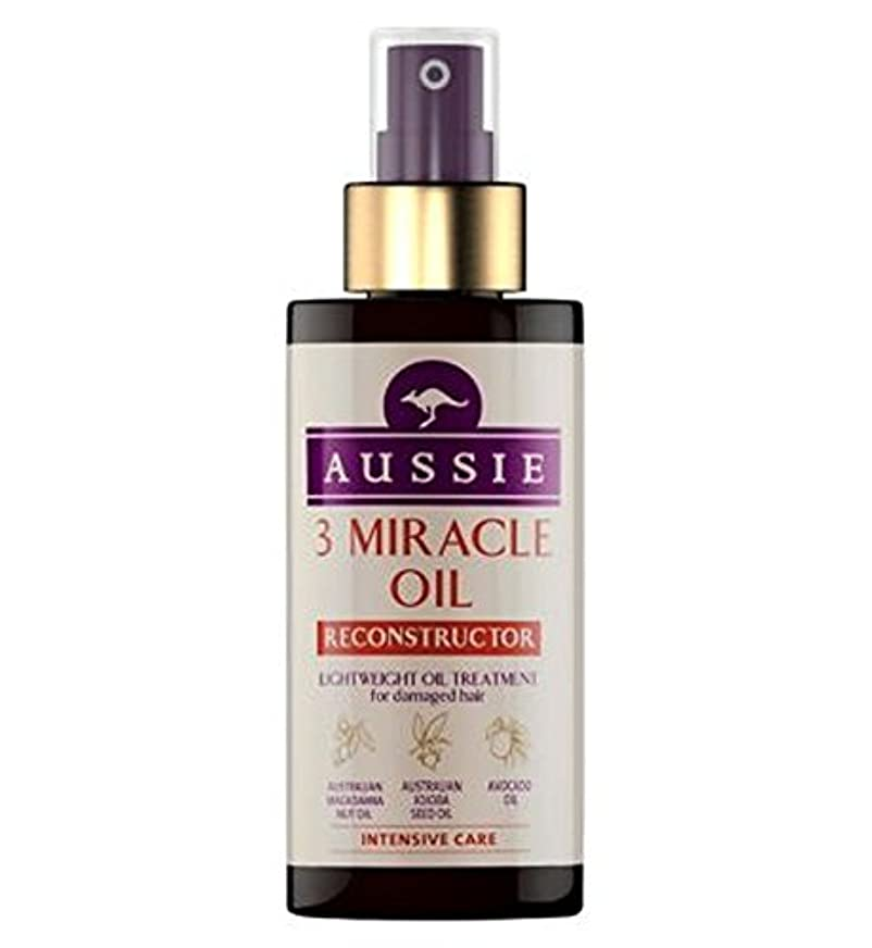 リビングルーム軍団うんざりAussie 3 Miracle Oil Reconstructor for Damaged Hair 100ml - 傷んだ髪の100ミリリットルのためのオージー3奇跡のオイル再構成 (Aussie) [並行輸入品]