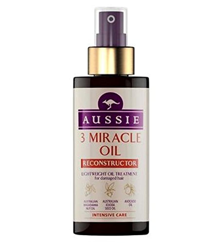 離れた刻む広告するAussie 3 Miracle Oil Reconstructor for Damaged Hair 100ml - 傷んだ髪の100ミリリットルのためのオージー3奇跡のオイル再構成 (Aussie) [並行輸入品]