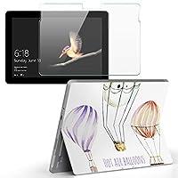 Surface go 専用スキンシール ガラスフィルム セット サーフェス go カバー ケース フィルム ステッカー アクセサリー 保護 気球 乗り物 カラフル 014346
