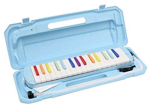KC 鍵盤ハーモニカ  虹色 32鍵 P3001-32K/NIJI ドレミ表記シール・クロス付き
