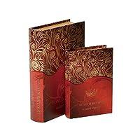 ブック型収納ボックス BOOK BOX 2個セット 28231