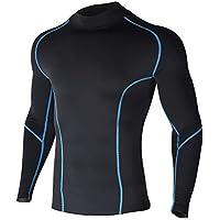 Xtextile Thermal Fleece Sports Compression Baselayer Mock Long Sleeve Shirt & Pants