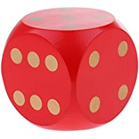 Baoblaze 6面 サイコロ パーティー MTG T RPGゲーム用 全3色 - 赤