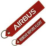 フライトタグ クルータグ Airbus Keyring 赤 エアバス キーリング 航空雑貨 飛行機グッズ エアライングッズ 【正規代理店】