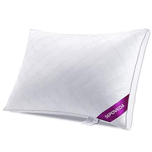 Sepoveda 枕 安眠 人気 肩こり 快眠 高反発 洗える 横向き まくら 通気性抜群 ホワイト 頭痛改善 頚椎サポート ピロー ジャストサイズ