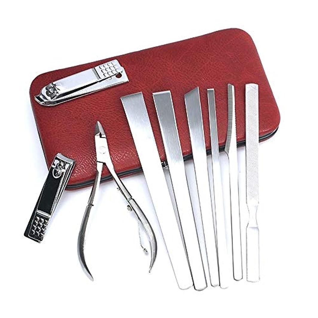 額プット膨らみJIAYIZS プロフェッショナルペディキュアナイフセットのデコレーションネイルは、ボックスツールバッグネイルクリッパー家庭用ネイルクリッパーはさみを設定します。 (Color : Silver)