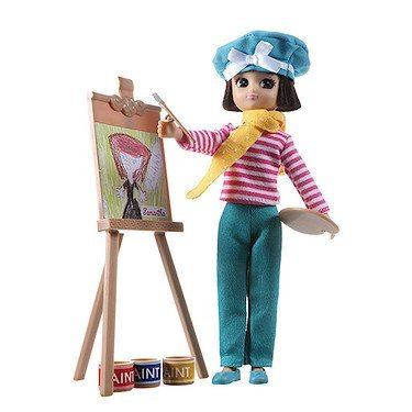 Doll by LOTTIE LT070 Always Artsy | Dolls - Accessories - Toy Sets - Collectible | Inspired by real kids! 7 Inch 18 cm Doll With