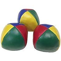 極めろ ジャグリング ボール 3個セット + 収納袋 4色 大/中/小 豪華4点セット K130 (中 (6.3cm))