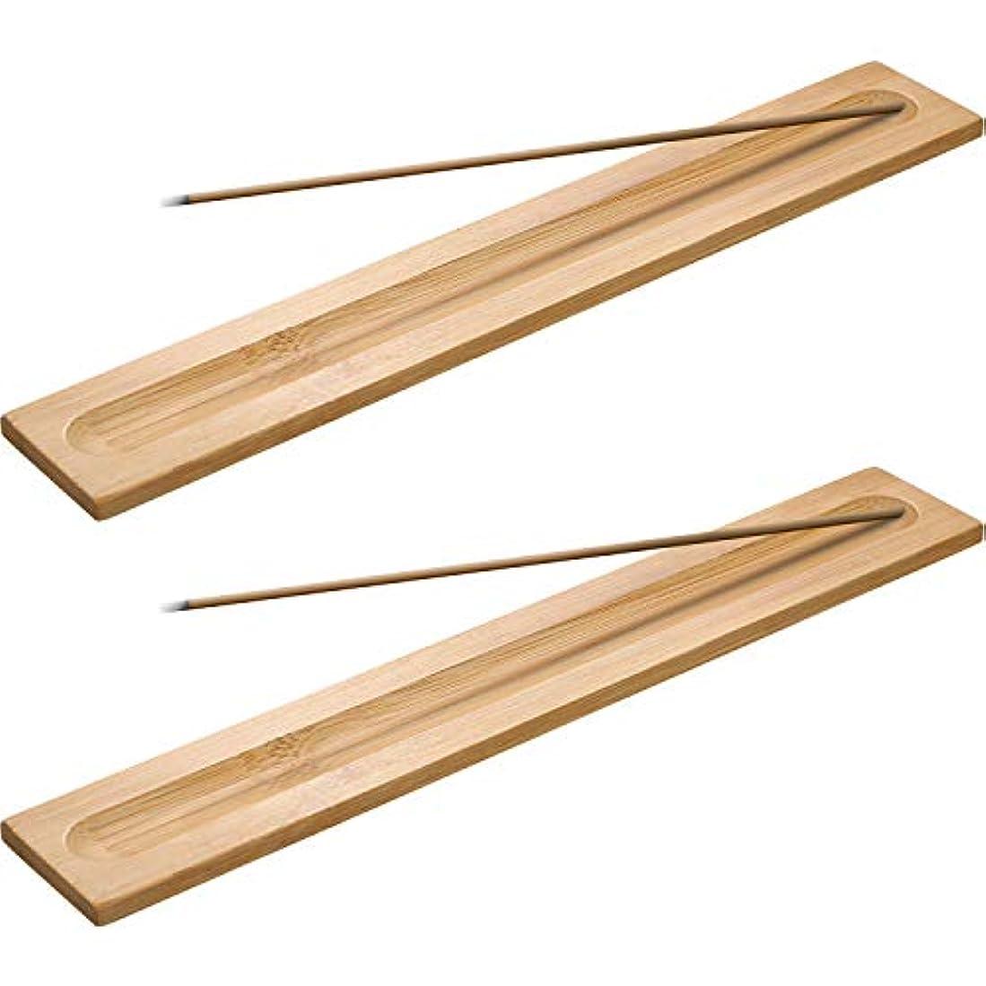 中央値一次注釈Boao 竹製お香スティックホルダー 香炉 アッシュキャッチャー 5本 長さ9.06インチ