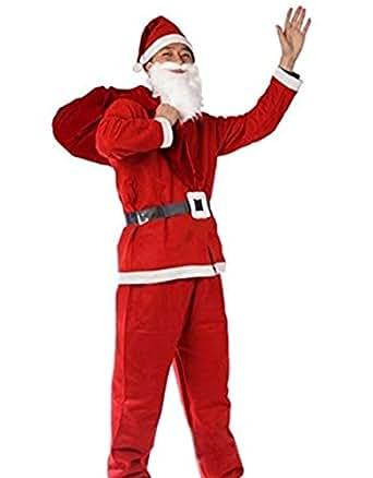 ROZZERMAN サンタクロース コスチューム 大人用 男の子用 女の子用 コスプレ 衣装 セット クリスマス パーティー 3サイズ n124 (大人用)