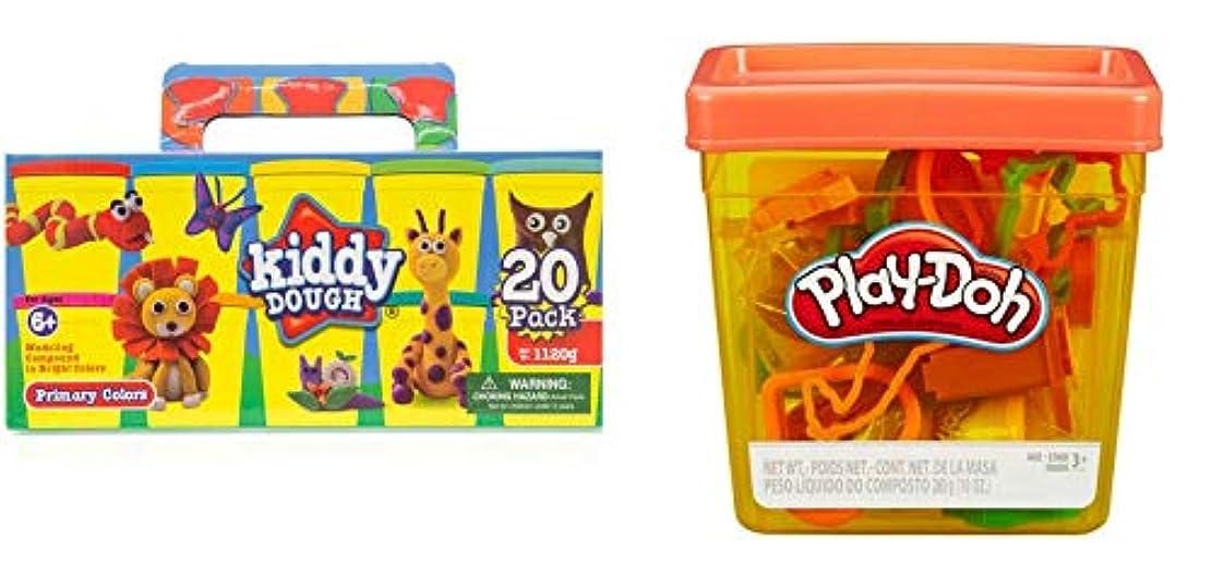 Kiddy Doughコンパウンド 20個パック カラー生地とプレイ?ドーの楽しいタブバンドル
