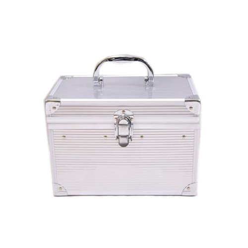 BAG ORIGIN[バッグ オリジン] メイクボックス レディース 美容 本物の質感 鏡・中皿付 シルバー