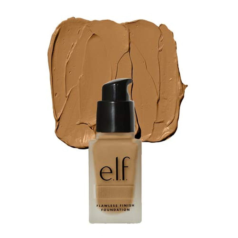 スムーズに戻す裁判所(3 Pack) e.l.f. Oil Free Flawless Finish Foundation - Linen (並行輸入品)