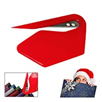 クリスマスラッピングペーパーカッター クリエイティブ スライドラッピングペーパー ロールカッターツール ギフトラッピングペーパーカッティングツール 7.5×4.5cm yss