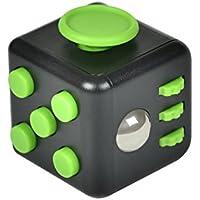 XeYOU Fidget Cube (フィジェットキューブ)ストレス解消キューブ Relievesストレスと不安の子供と大人 おもちゃ ポケットゲーム 不安 緊張 リリーフ ルービックキューブ (黒緑)