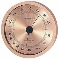 (まとめ) EMPEX 温度?湿度計 スーパーEX高品質 温度?湿度計 壁掛用 EX-2728 シャン