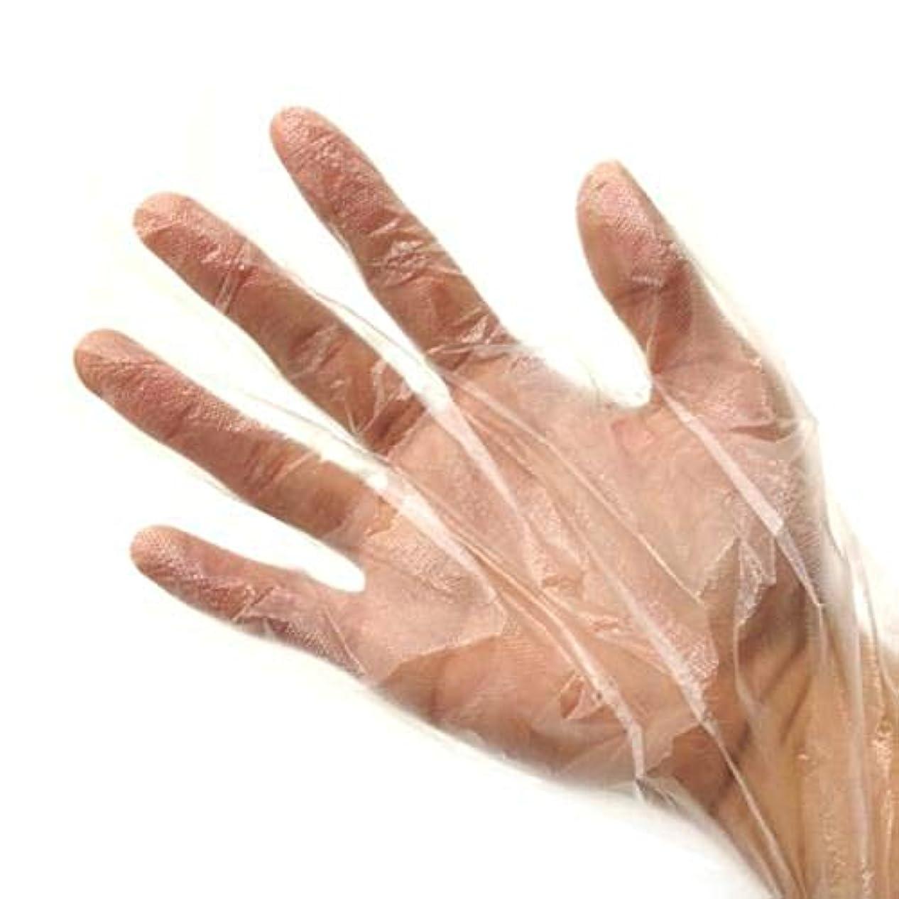 制限する泳ぐフェード使い捨て手袋 極薄ビニール手袋 調理 透明 実用 衛生 100枚入