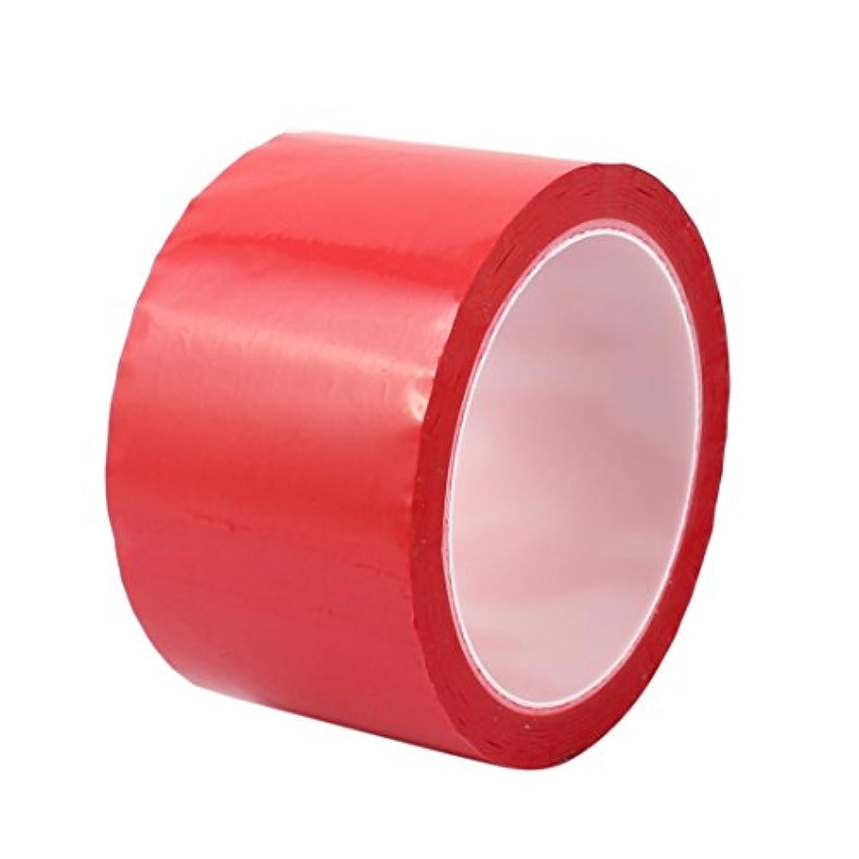 ロマンスデッドロックコピーuxcell 絶縁耐熱テープ 片面 強粘着力 ポリエステル 50M  60mm  レッド