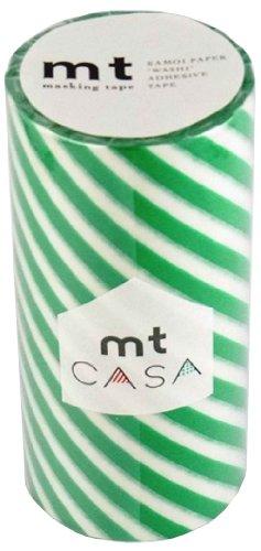 RoomClip商品情報 - カモ井加工紙 マスキングテープ 100MM幅×10M巻 MTCA1021 ストライプグリーン