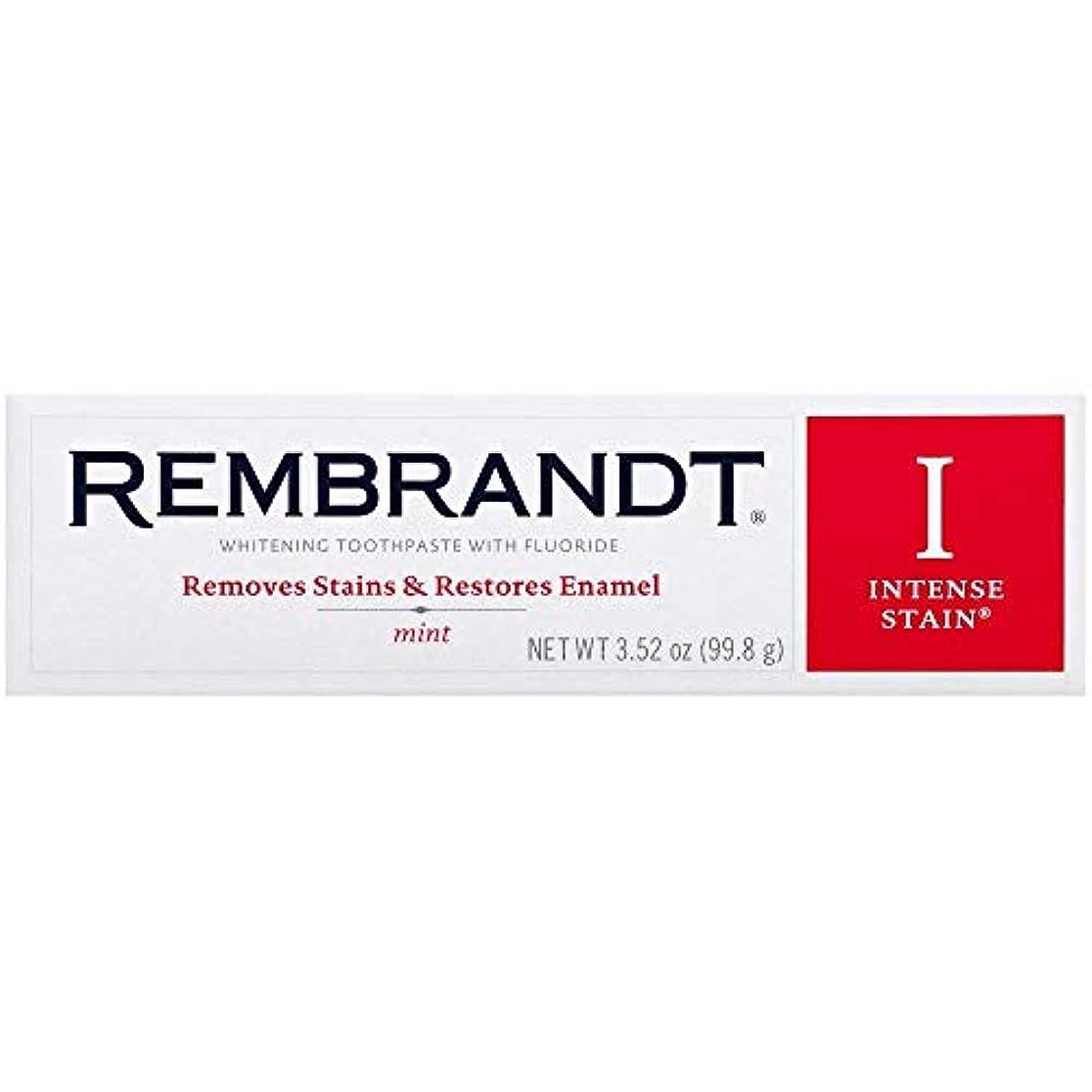 精神上がる怪物海外直送品 レンブラントインテンスステイン Rembrandt Intense Stain Whitening Toothpaste, Mint, 3.5 oz Pack of 6