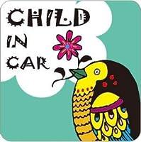 CHILD IN CAR(チャイルドインカー) マグネット typeB エメラルド バードA