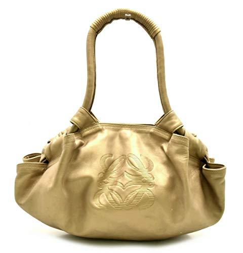 [ロエベ] LOEWE ナッパアイレ ハンドバッグ ナッパレザー ブロンズ系ゴールド ゴールド金具