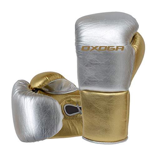 オクソガ(Oxoga) プロボクシンググローブ シルバー/ゴールド OSPBG-3008 OSPBG-3008