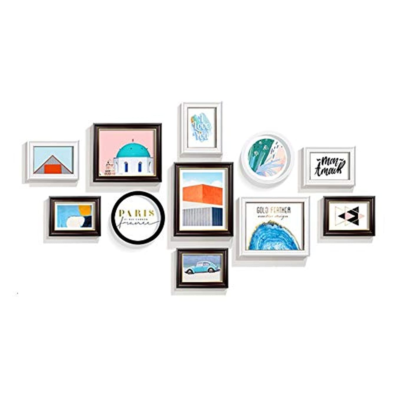 トランペット透けるエイズマルチフォトフレームフォトウォール、多目的ホームリビングルーム装飾絵画(160 * 87センチ)、11枚入り yumingjingxiao1-11.5