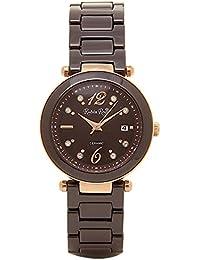 [RUBIN ROSA]ルビンローザ 腕時計 ソーラークォーツ レディース ウォッチ ブランド 正規品 電池交換不要 防水 R307PBR ブラウン