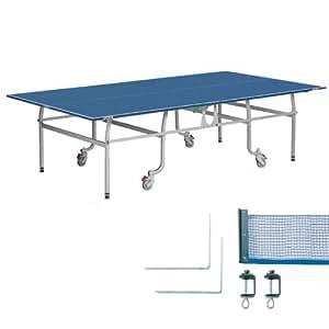 三英 日本卓球協会公認 国際規格サイズ 卓球台(内折れ式/移動キャスター付) (13-703)