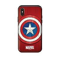 〈iPhone7/8 Plus・アイフォン7/8 プラス〉 マーベル シールド スライド カード バンパー ケース Marvel Shield Silde Card Bumper Case スマホ 携帯 スマートフォン ケース カード収納 ハード 強い 二重カバー 人気 可愛い スリム カバー 〔タイプ④・Type④〕