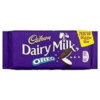 オレオの185グラムとキャドバリー・デイリーミルク (x 4) - Cadbury Dairy Milk with Oreo 185g (Pack of 4) [並行輸入品]
