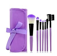ShiMin 化粧ブラシセット、7紫化粧ブラシ、ブラッシュブラシ、ルースパウダーブラシ、アイブロウブラシ、プロの化粧ブラシ化粧ギフト