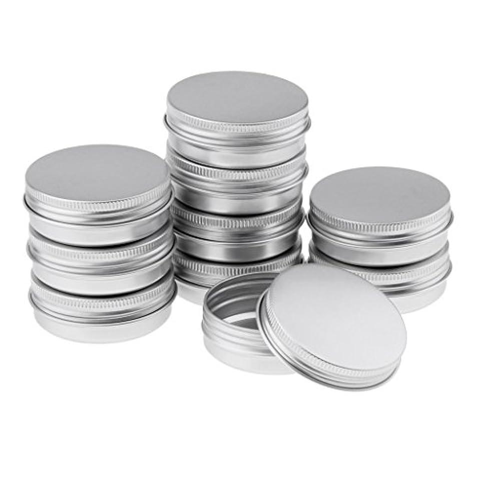 倒産軌道アーティファクトHomyl 10個 空缶 ジャー スクリュー蓋付き アルミ ラウンド 詰替え容器 コスメ DIY 3サイズ選べる - 5.7x2.3 cm