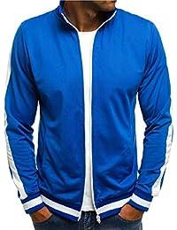 Sodossny-JP メンズカジュアルスリムフィットフルジップ固体カラーボンバー野球ジャケットコート