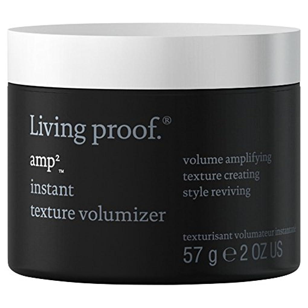 椅子社会科違反生きている証拠アンペアインスタントテクスチャVolumiserの57グラム (Living Proof) (x2) - Living Proof Amp Instant Texture Volumiser 57g (Pack...