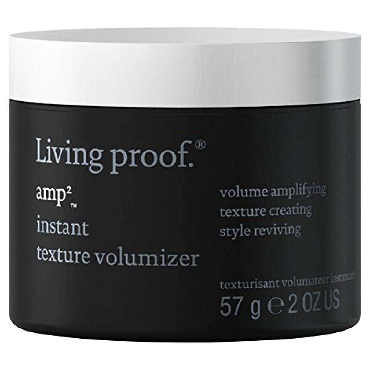 冷淡な希望に満ちた情報生きている証拠アンペアインスタントテクスチャVolumiserの57グラム (Living Proof) (x2) - Living Proof Amp Instant Texture Volumiser 57g (Pack...