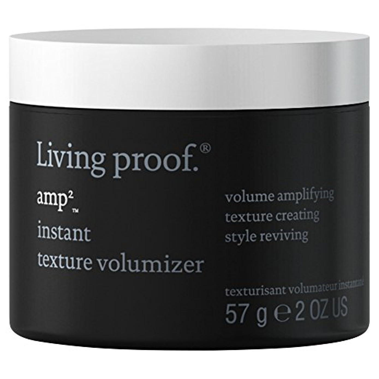 スクリーチシアー偏見生きている証拠アンペアインスタントテクスチャVolumiserの57グラム (Living Proof) (x2) - Living Proof Amp Instant Texture Volumiser 57g (Pack...