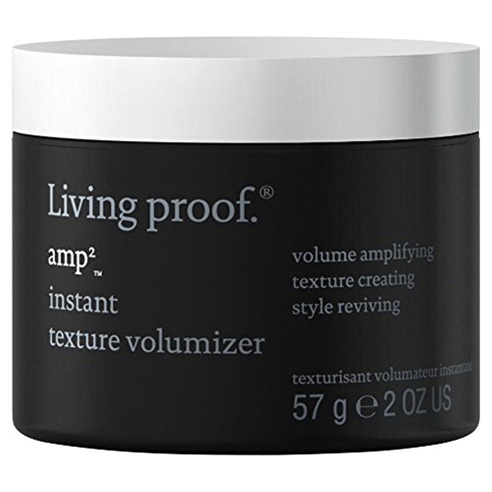 動揺させる約束するインタフェース生きている証拠アンペアインスタントテクスチャVolumiserの57グラム (Living Proof) (x2) - Living Proof Amp Instant Texture Volumiser 57g (Pack...